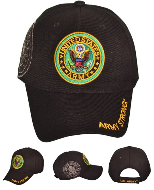 LICENSED US Army Round Logo Hat with Shadow