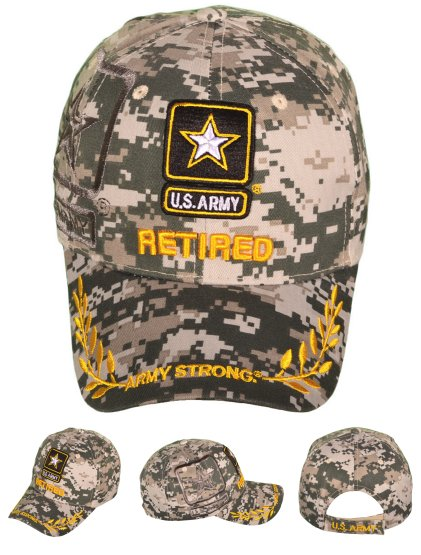 LICENSED US Army Logo Hat with Shadow [Digital Camo/RETIRED]