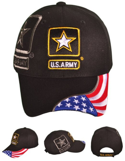LICENSED US Army Logo Hat with Shadow [FLAG]