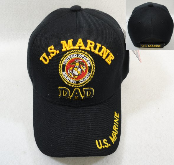 LICENSED US Marine DAD Ball Cap-Black Only