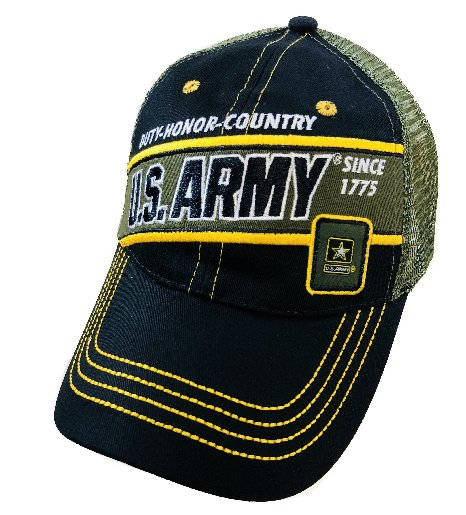 LICENSED US Army Mesh Hat [Duty/Honor/Country]