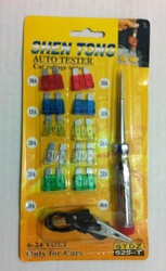 10pc Auto Fuse with Tester