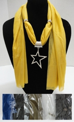 "Scarf Necklace-Rhinestone Star 68"" - <span style=""color:red"">ON SALE UP TO 50% OFF</span>"