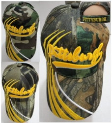 PITTSBURGH Hat [Camo] Lines Only - <Assorted Camo</b> [Camo Upon Availability]