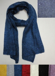 "Knitted Scarf [Loose Knit with Sequins]--AS LOW AS $0.75 each - <span style=""color:red"">ON SALE UP TO 75% OFF</span>"
