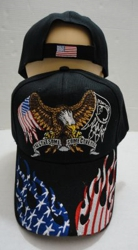 Eagle Hat [Flag/POW Wings] Flag Flame on Bill