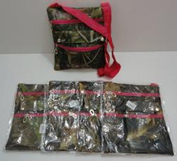 Large Cross-Body Hand Bag [Hardwoods Camo/Hot Pink Trim]