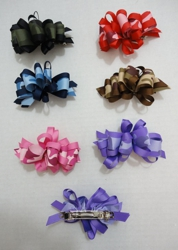 "4"" Bow Barrette--Camo"