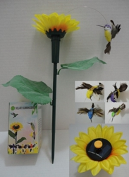 Solar Yard Stake with Sunflower [Hummingbird]