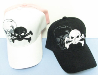 Skull & Crossbones Shadow Hat - <b>Assorted colors</b> [Colors upon availability]
