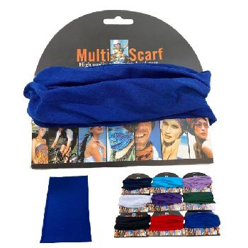 "Multi Functional Headgear Gaiter Buff[Solid] 9""X18"""