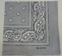 Bandana-Light Gray Paisley