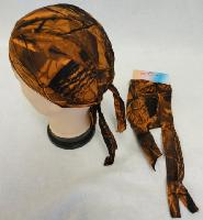 Skull Cap-Orange Hardwood Camo