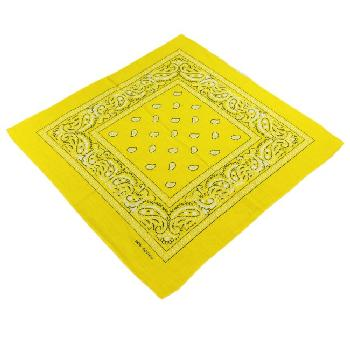 Bandana- Medium Yellow Paisley