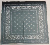 Bandana- Gray Paisley with Skull [Fade]
