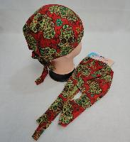 Skull Cap-Sugar Skull [Red]