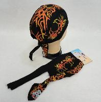 Skull Cap-Orange & Yellow Tribal Flames