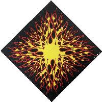 Bandana-Yellow/Red Flames