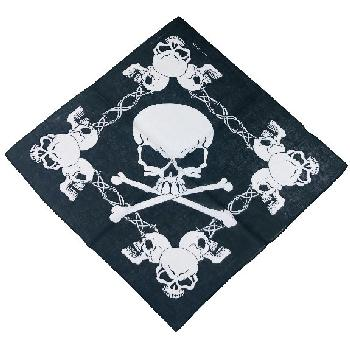 Bandana-Skulls & Barbed Wire [Large Skull in Center]