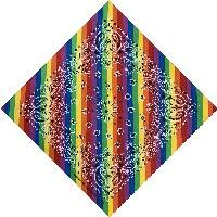 Bandana-Rainbow Stripes with Paisley