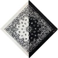 Bandana-Black/White Diagonal Split