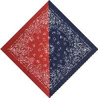 Bandana-Navy/Red Diagonal Split