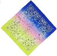 Bandana-Paisley Fade [Pink/Blue/Lime Green/Yellow]