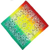 Bandana-Paisley Fade [Red/Yellow/Green]