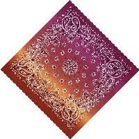 Bandana-Paisley Fade [Red/Orange/Pink]
