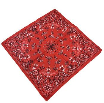 Bandana-Red Paisley Print [Club-Spade-Heart-Diamond]