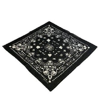 Bandana-Black Paisley Print [Club-Spade-Heart-Diamond]
