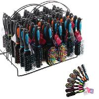 Hair Brush Assortment with Display Rack