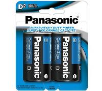 2pk Panasonic D Batteries