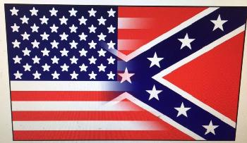 3'X5' Half and Half Confederate/American Flag