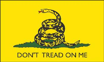 3'x5' DON'T TREAD ON ME Flag [Yellow]