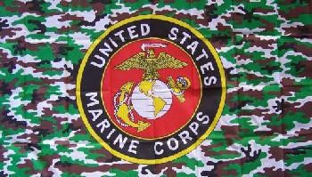 FLAG101 3'X5' Licensed United State Marine Corps Flag--Camo Background