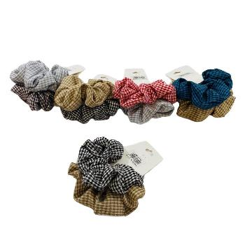 2pc Gingham Scrunchie