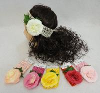 Child's Elastic Head Band with Rose