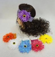 Child's Elastic Head Band with Flower