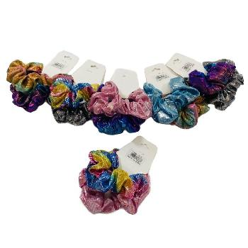 2pc Shiny Sparkle Satin Scrunchie