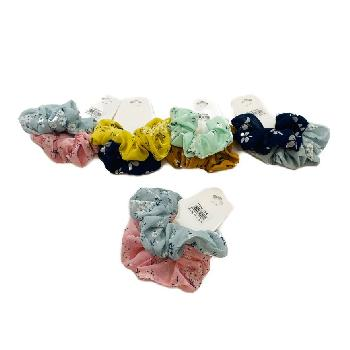 2pc Chiffon Scrunchie with Floral Print