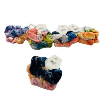 2pc Velvet Tie-Dye Scrunchies