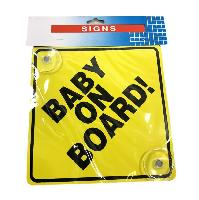 BABY ON BOARD Suction Cup Car Sign