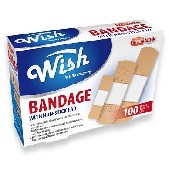 100pk Bandage with Non-Stick Pad