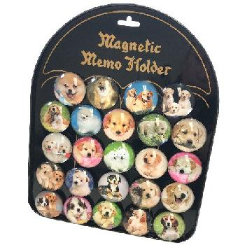 "1.5"" Round Dome Magnets [Dogs] with Display Board"