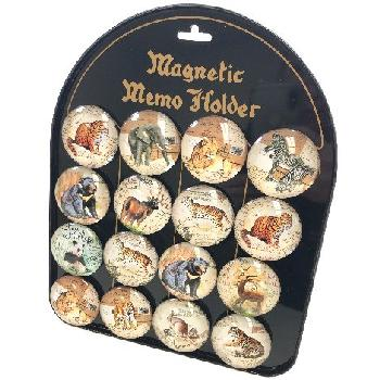 "2"" Round Dome Magnets [Wild Animals] with Display Board"