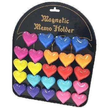"1.75"" Glass Magnet [Heart] with Display Board"