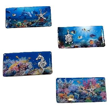 "3.5""x1.75"" Magnet [Ocean Life] with 3D Accent"