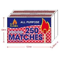2pk 250ct Wooden Matches