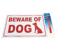 "11.8""x7.9"" Sign [BEWARE OF DOG]"